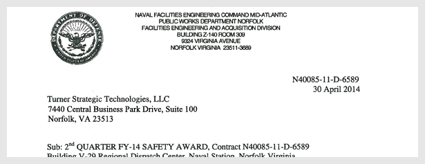 NAVFAC-2nd-Qtr-2014-Safety-Award